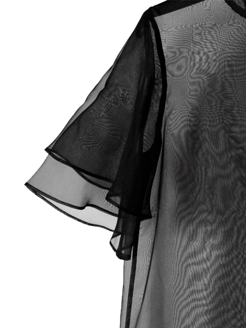 KAMPERETT Barre Organza Dress - Black