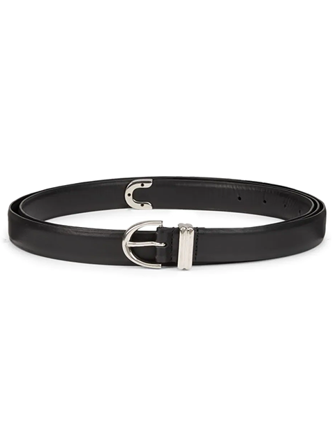 KHAITE Brooke Double Wrap Belt - Black