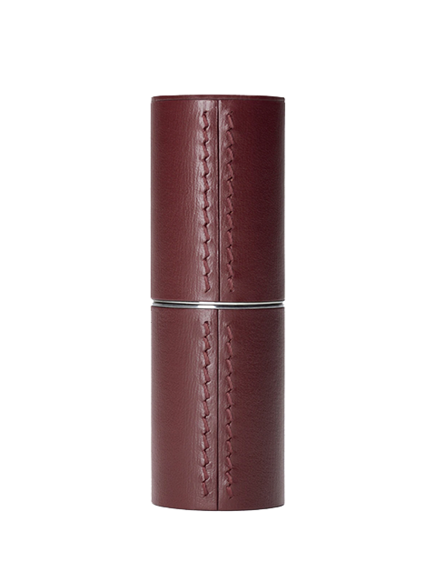 LA BOUCHE ROUGE Leather Lipstick Case - Chocolate