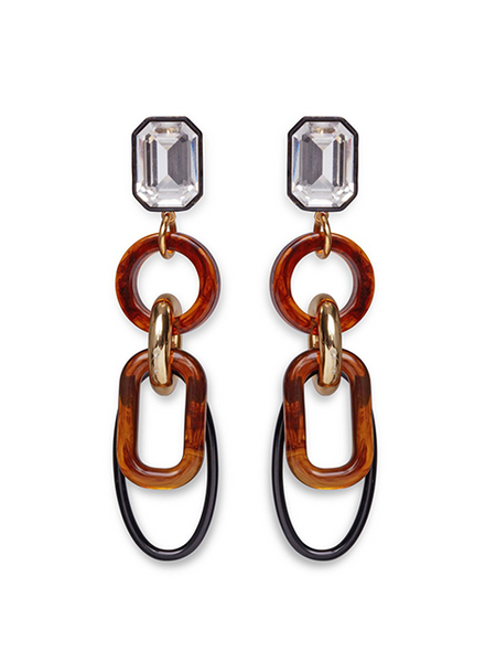 LIZZIE FORTUNATO Amber Fort Earrings