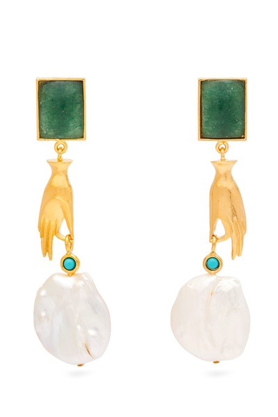 LIZZIE FORTUNATO Gentlewoman Earrings