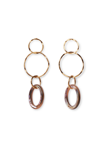 LIZZIE FORTUNATO Lake City Earrings in Abalone