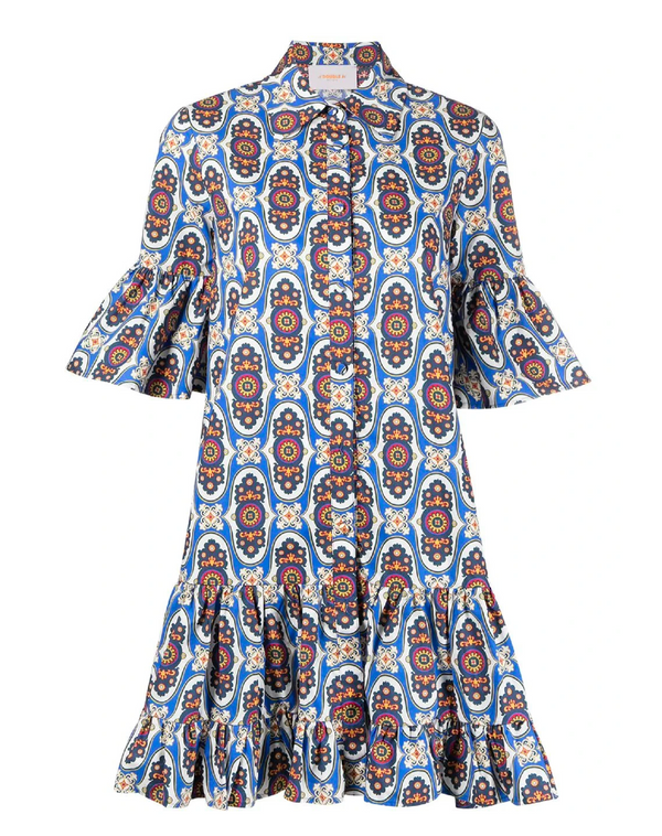 LA DOUBLEJ Choux Printed Shirt Dress