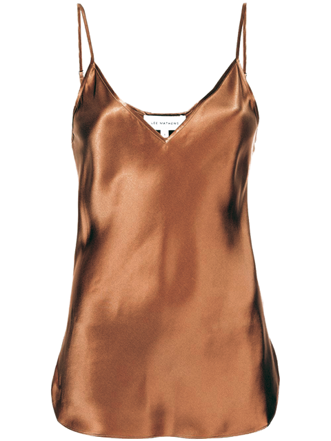 LEE MATHEWS Stella Silk Cami - Chocolate