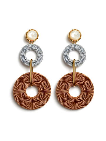 LIZZIE FORTUNATO Corsica Column earrings
