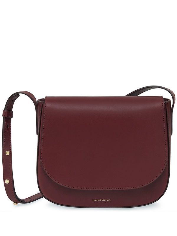 MANSUR GAVRIEL Vegetable Tanned Crossbody - Bordo