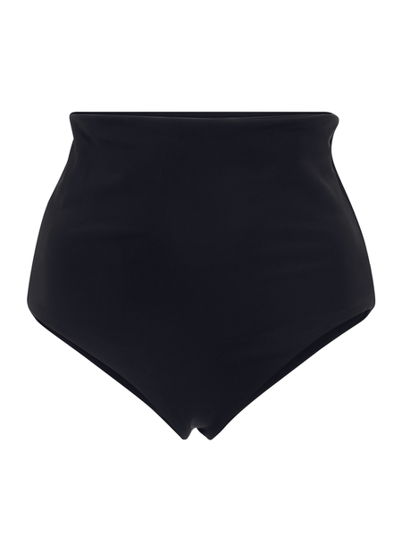 MARA HOFFMAN LYDIA Black high waisted bikini bottom