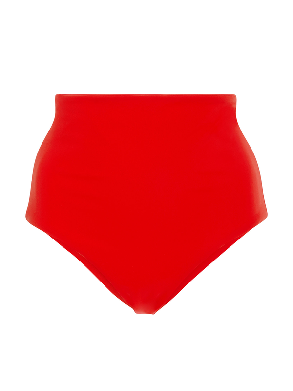 MARA HOFFMAN Lydia High-Waisted Bikini Bottom - Red Coat