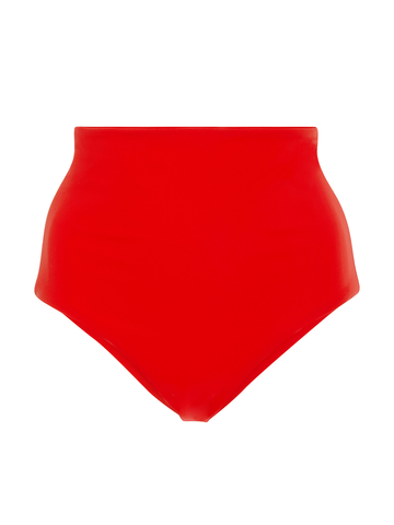 MARA HOFFMAN LYDIA Red high waisted bikini bottom