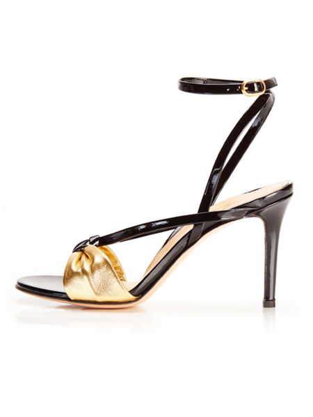 MARION PARKE Lucy Gold Black Sandal 85 mm