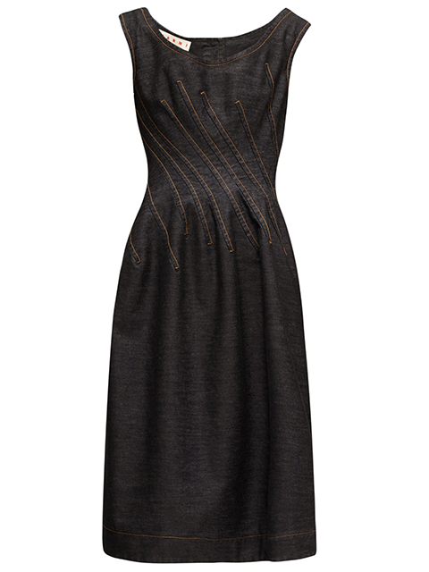 MARNI Black Denim Dress