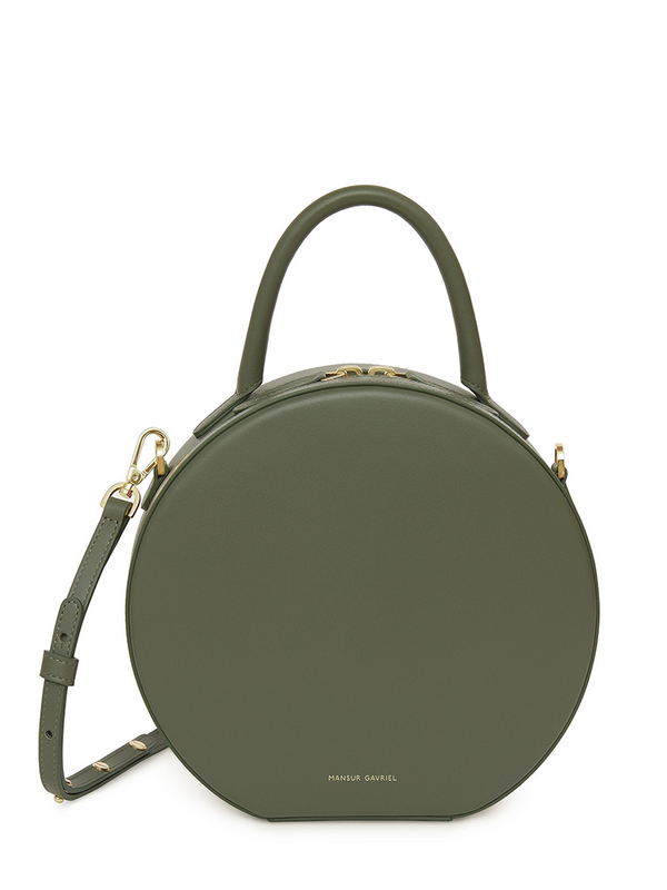 MANSUR GAVRIEL Calf Circle Crossbody - Leaf