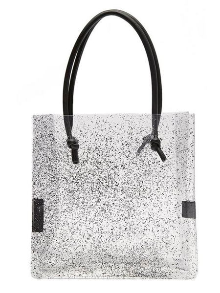 Maryam Nassir Zadeh Anaise Clear PVC Tote Knot Bag