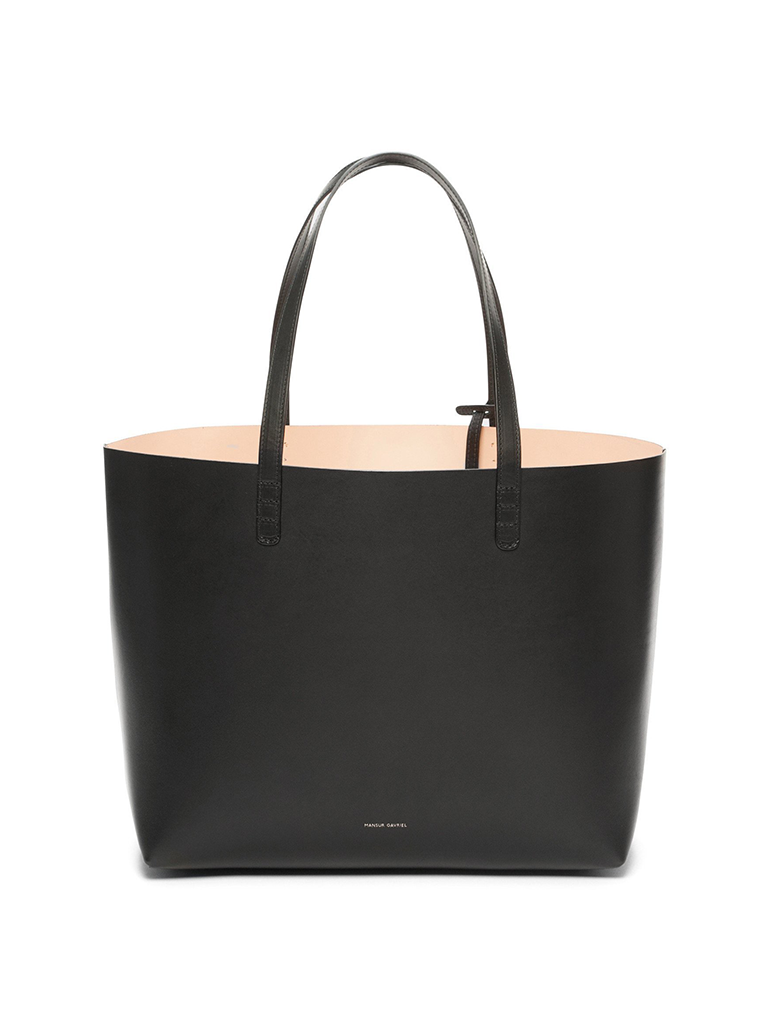 MANSUR GAVRIEL Black Vegetable Tanned Large Tote - Ballerina
