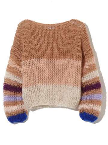 Maiami MOHAIR STRIPED SWEATER BLOUSE