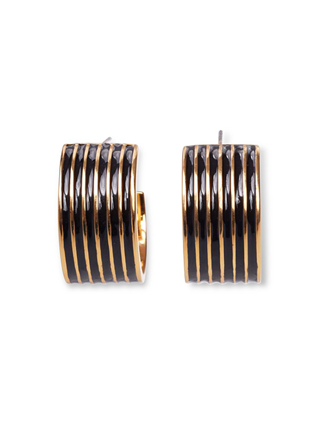 LIZZIE FORTUNATO Margot Hoops in Black