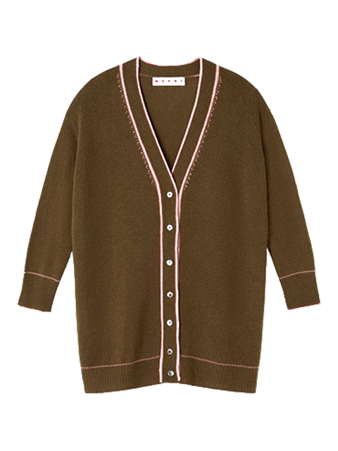 MARNI Long Sleeve Embroidered Cashmere Sweater