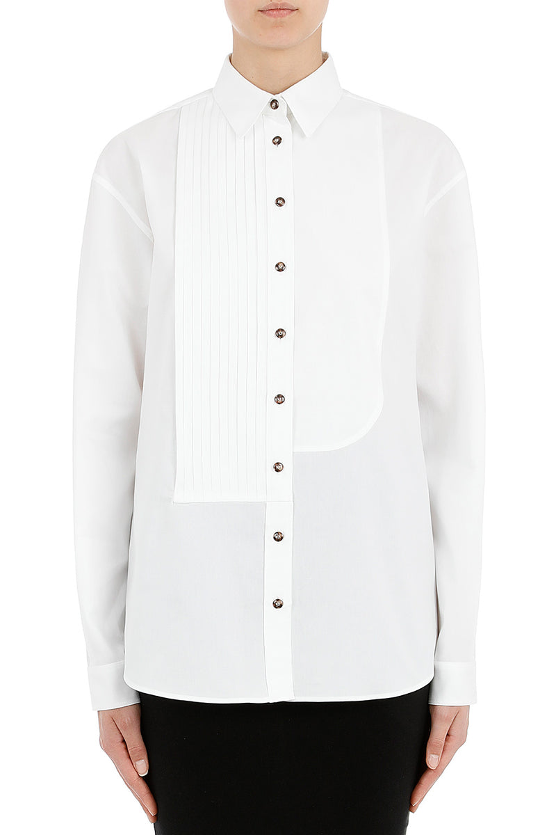 CÉDRIC CHARLIER White Button Down Top