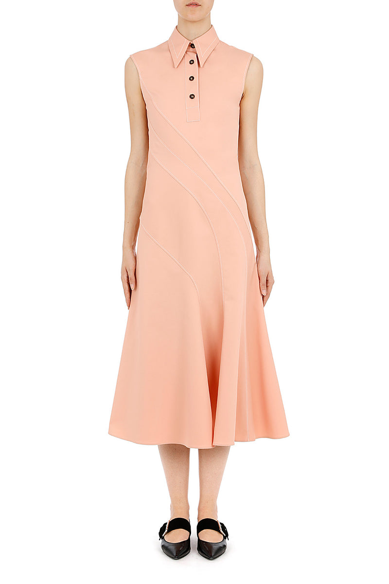 CÉDRIC CHARLIER Short Sleeve Collar Dress