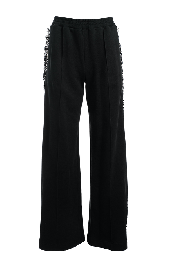 AREA Crystal Trim Wide-Leg Track PantsAREA Crystal Trim Wide-Leg Track Pants