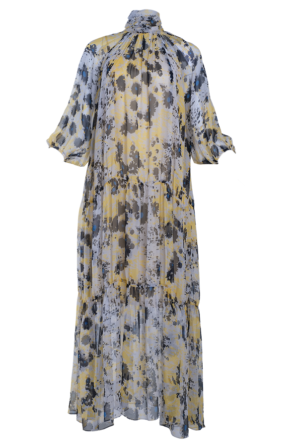 ARIAS Floral Silk Maxi Dress