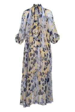 ARIAS Exclusive Floral Print Silk Maxi Dress