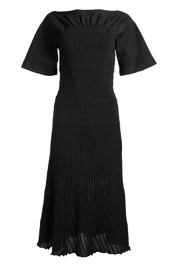 PROENZA SCHOULER Smocked Knit Dress / Black