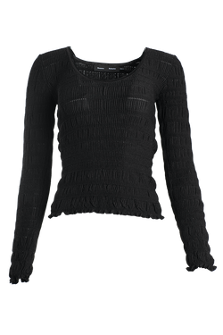PROENZA SCHOULER Scoop Neck Smocked Knit Top