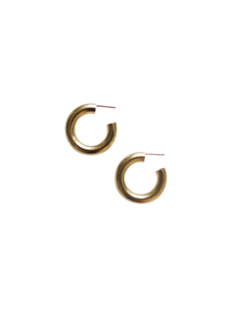 Laura Lombardi MEDIUM HOOP EARRINGS