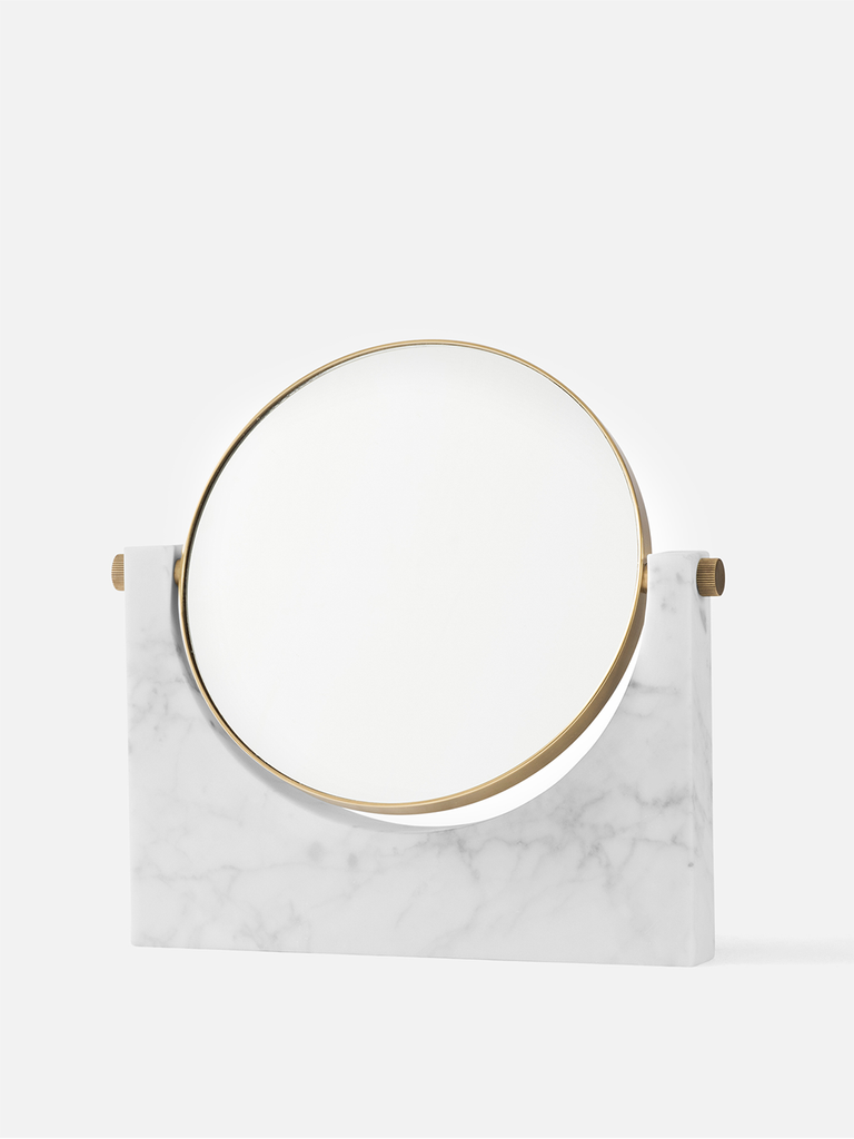 Creative Danes Pepe Marble Mirror in Brass/White