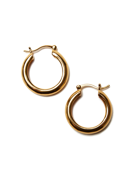 LIZZIE FORTUNATO Large Gold Mood Hoops - gold plated brass
