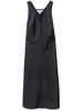 NOMIA V Neck Insert Midnight Dress