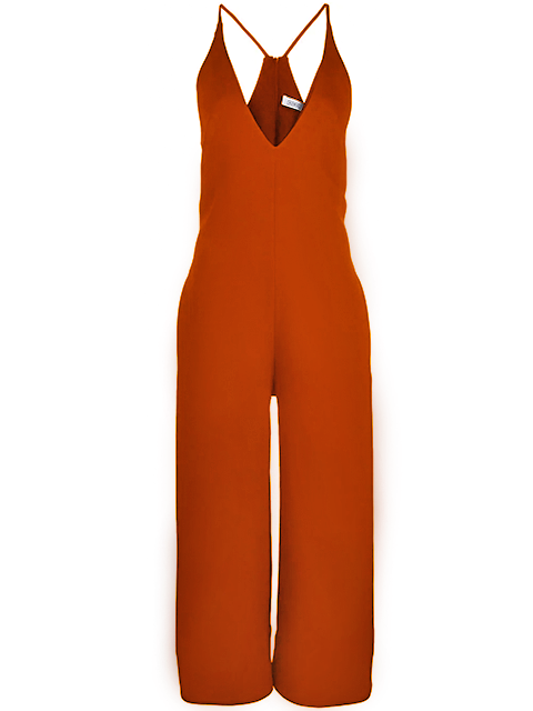 NOMIA V-Neck Jumpsuit - Poppy