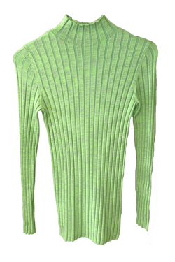 NOMIA Ribbed Turtleneck - Lime