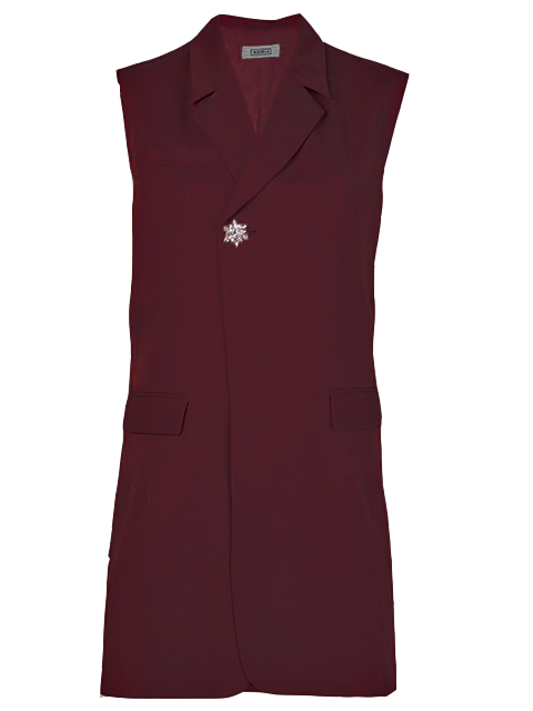 NOMIA Darted Burgundy Vest