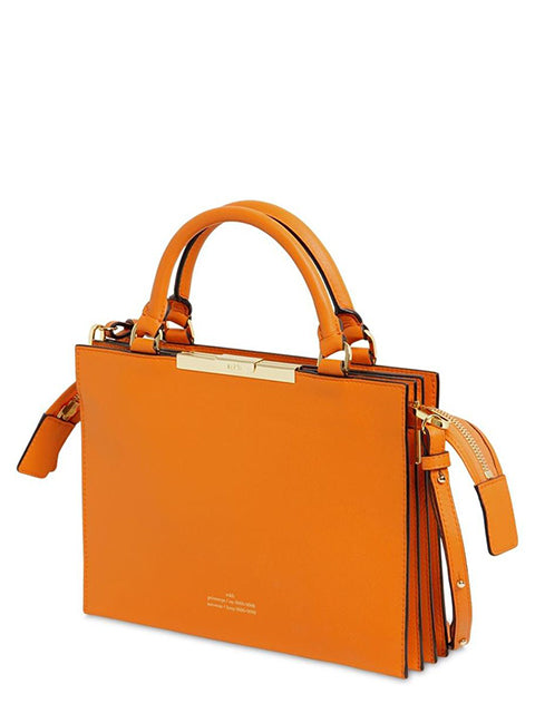 ROKH Top Handle Bag - Tangerine