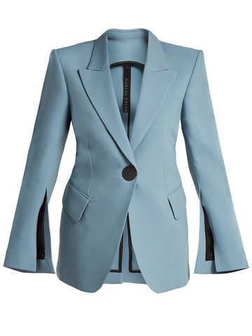 PETAR PETROV JOVAN SINGLE BREASTED TAILORED JACKET WITH SLEEVE SLITS