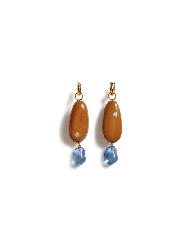 LIZZIE FORTUNATO RIVER PEBBLE EARRINGS