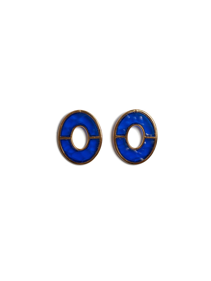 LIZZIE FORTUNATO BLUE CITY EARRINGS
