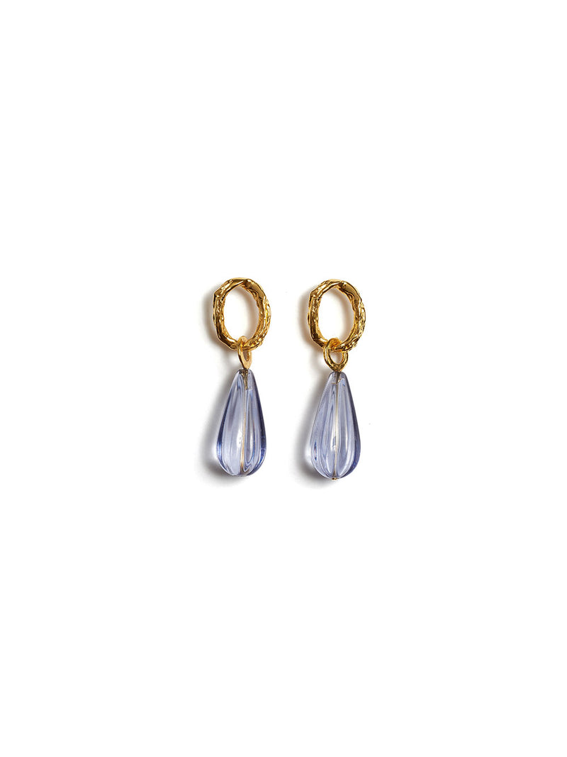 LIZZIE FORTUNATO SKY TEARDROP EARRINGS