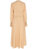 PETAR PETROV Dedra V-neck Powder Dress with Front Bow Detail
