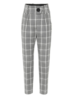 Petar Petrov HIGH WAIST TAILORED HEAVY WOOL PANTS