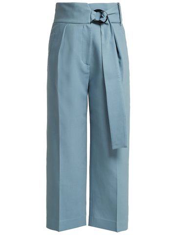 PETAR PETROV HAYES HIGH WAIST TAILORED PANTS WITH RING CLOSURE