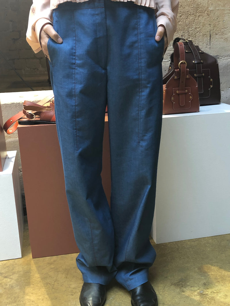CÉDRIC CHARLIER Light Blue Trousers