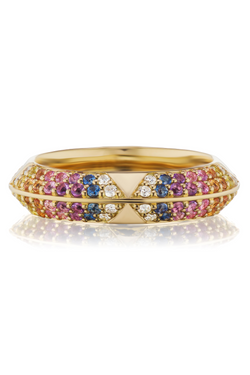 HARWELL GODFREY Colorful Pave Rosa Band
