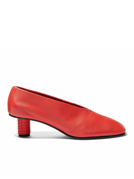 PROENZA SCHOULER Closed Square Toe Shoe w/ Cording Heel
