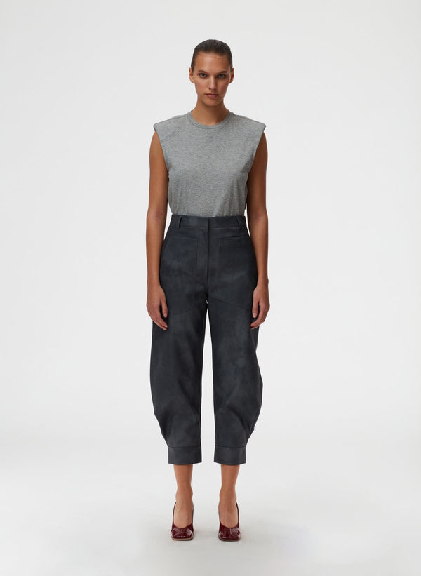 TIBI Rubberized Tie Dye Sculpted Pant