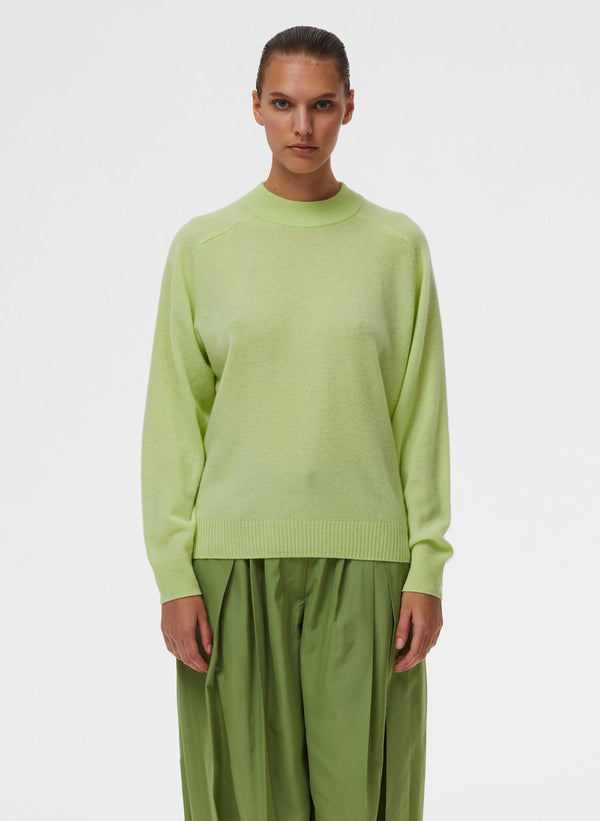 TIBI Featherweight Cashmere Crewneck Pullover / Mint