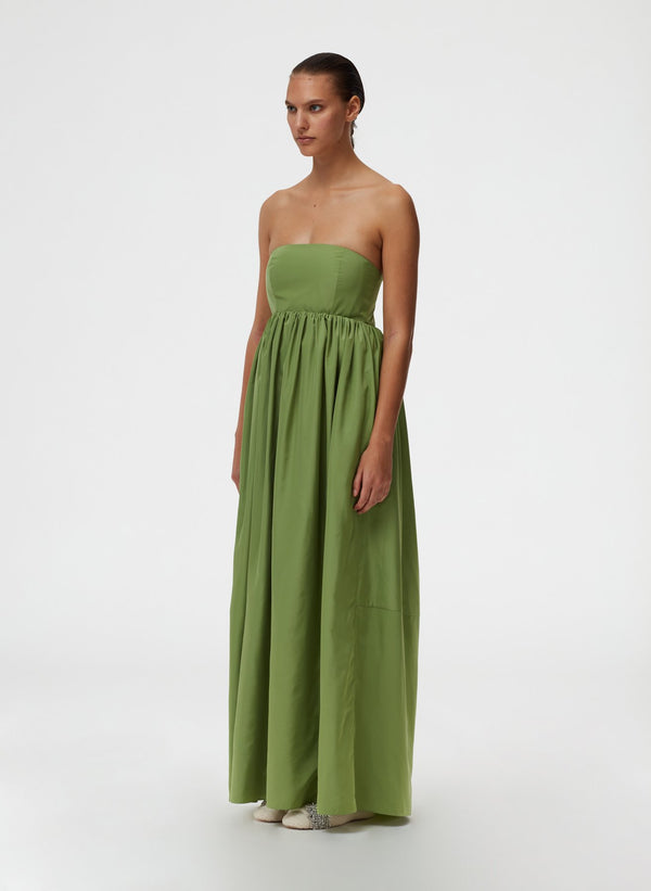 TIBI Taffeta Strapless Cocoon Dress