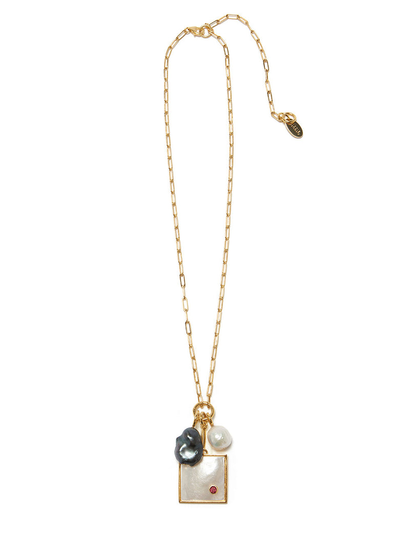 LIZZIE FORTUNATO DOMINO NECKLACE
